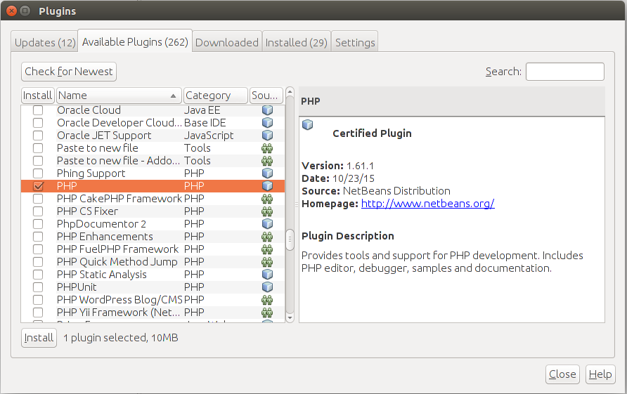 Installing NetBeans IDE in Linux – Using Zend Framework 3